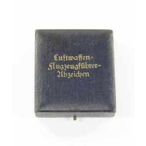 Etui Luftwaffen Flugzeugführerabzeichen