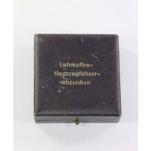 Etui Luftwaffen Flugzeugführerabzeichen, OM
