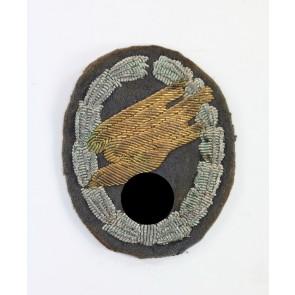 Fallschirmschützenabzeichen der Luftwaffe, handgestickte Ausführung für Offiziere