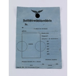 Luftwaffe, Fallschirmschützenschein (blanko)