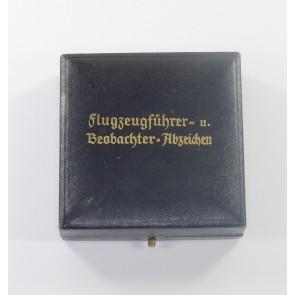 Frühes Etui Flugzeugführer- u. Beobachter - Abzeichen