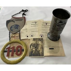 Gruppe Ehrenpokal für besondere Leistungen in Luftkrieg, Fernaufklärer beim Oberbefehlshaber der Luftwaffe, Hans Bölting