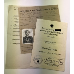 Urkunde Eisernes Kreuz 2. Klasse, U-Boot (U-409)