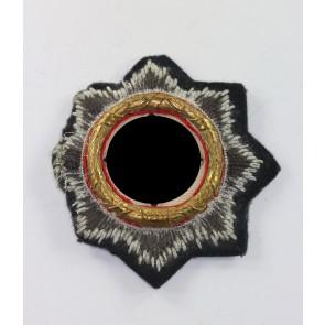 Deutsches Kreuz in Gold auf Luftwaffenstoff