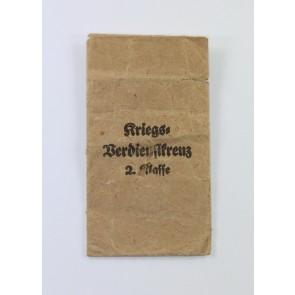 Verleihungstüte Kriegsverdienstkreuz 2. Klasse, Bury & Leonhard
