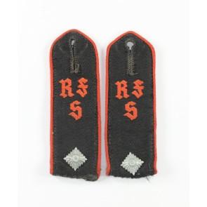 Hitler Jugend (HJ), Paar Schulterklappen für einen Kammeradschaftsführer der Reichsführer Schule (RFS)