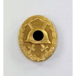 Verwundetenabzeichen in Gold, Hst. 30, breite Nadel (!)