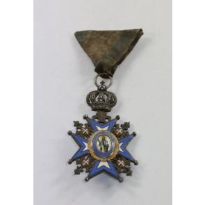 Serbien, St. Sava Orden Ritterkreuz, 2. Modell 1883