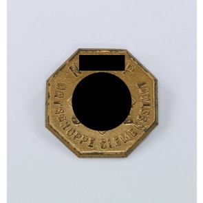 """Abzeichen, """"5 Jahre NSDAP Ortsgruppe Siemensstadt"""""""