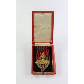Württemberg, Feuerwehr-Dienstehrenzeichen 1.Form 1885, im Etui