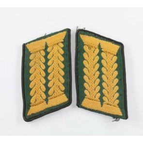 Paar Kragenspiegel, eines Heeres Beamten der höheren Laufbahn