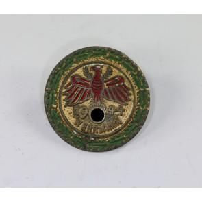 """Standschützen Tirol-Vorarlberg, Gaumeisterabzeichen 1944 in Gold mit Eichenlaubkranz """" Wehrmann """""""