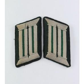 Wehrmacht Heer, Paar Kragenspiegel, für Offiziere Heeresverwaltung, technischer Dienst