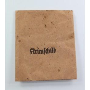 Verleihungstüte Krimschild, Friedrich Orth