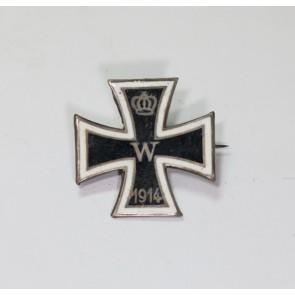 Miniatur Eisernes Kreuz 1. Klasse 1914, Silber (800), emailliert