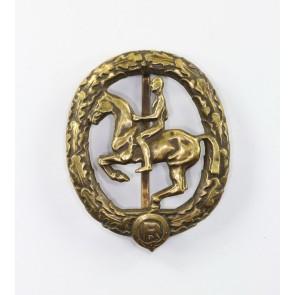 Reiterabzeichen in Bronze, Hst. Lauer