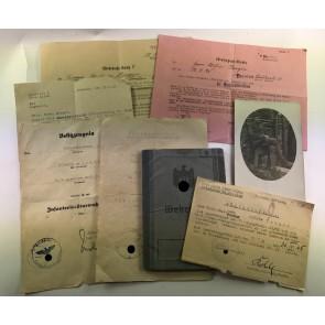 Dokumenten / Urkunden Gruppe Festung Breslau (!) Volkssturm