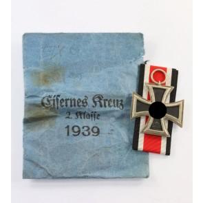 Eisernes Kreuz 2. Klasse 1939, in Verleihungstüte Hammer & Söhne