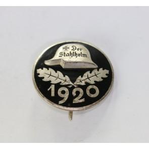 Stahlhelmbund, Diensteintrittsabzeichen 1920, große Ausführung (!), Silber
