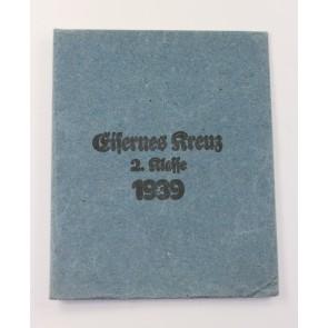 Verleihungstüte Eisernes Kreuz 2. Klasse 1939, Gottlieb & Söhne