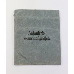 Verleihungstüte Infanterie-Sturmabzeichen, Wiedmann