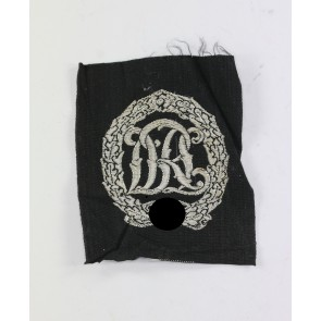Reichssportabzeichen in Silber, Stoff