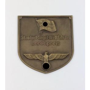 """Kriegsmarine, Plakette """"Standort-Segel-Wettfahrten Ehrenpreis"""""""