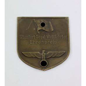 Kriegsmarine, Plakette, Standort-Segel-Wettfahrten Ehrenpreis