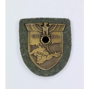 Krimschild auf Heeresstoff, Hst. J.F.S. 42