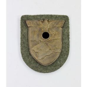 Krimschild auf Heeresstoff, Wilhelm Deumer