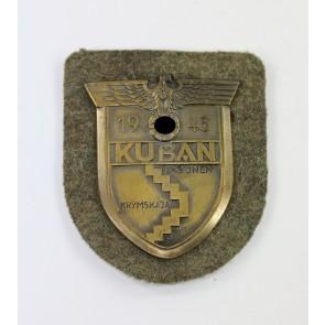 Kubanschild auf Heeresstoff, Rudolf Karneth