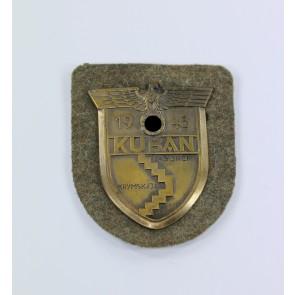 Kubanschild auf Heeresstoff, Rudolf Karneth (RK)