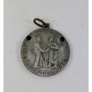 Medaille Westwall, Westbau 1938 Julius Berger Tiefbau A.G. Berlin - Limes Abschnitt Karlsruhe