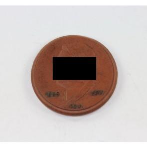 """Meißen Plakette, 50. Geburtstag Adolf Hitlers """"20.4. 1889 1939"""""""