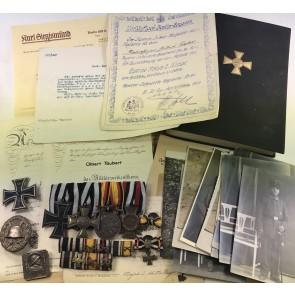 Nachlass Goldenes Militär Verdienstkreuz (Mannschafts Pour le Mérite) Albert Tauber