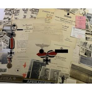Nachlass Ritterkreuz Träger Major Adam Dyroff, Afrika - Monte Cassino - Aachen