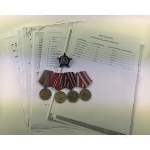 Sowjetunion, Gruppe Orden des Roten Stern mit Archiv Material