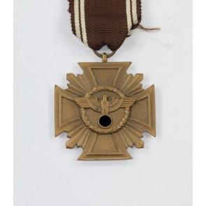 NSDAP Dienstauszeichnung in Bronze, flach, Buntmetall - Treue für Führer und Volk