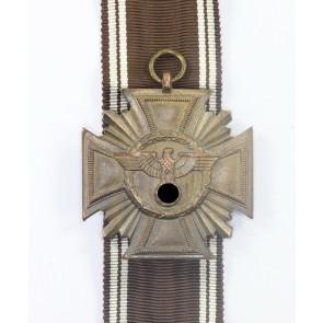 NSDAP Dienstauszeichnung in Bronze, Hst. 10 - Deschler (!), Cupal (!), flach, Für Treue für Führer und Volk