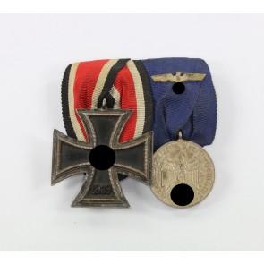 Ordensschnalle 2X - Eisernes Kreuz 2. Klasse runde 3