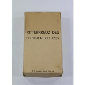 Umkarton für das Ritterkreuz des Eisernen Kreuzes - C.E. Juncker Berlin SW 68