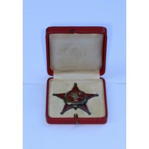 Osmanisches Reich, Eisernes Halbmond (Stern von Gallipoli), B.H. Mayer Silber, im Etui