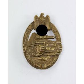 Panzerkampfabzeichen in Bronze, Schickle, Buntmetall