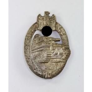 Panzerkampfabzeichen in Silber, Hst. A.S., Buntmetall (!)