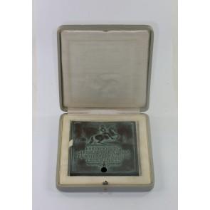 Plakette - Ehrenpreis des Generalkommandos IV. A.K. für Hervorragende Leistungen, im Etui