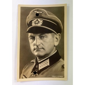 Propaganda Postkarte, Eichenlaubträger Oberst Hitzfeld