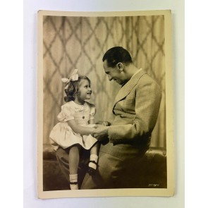Propaganda Postkarte, Reichsminister Dr. Goebbels mit seiner Tochter Hedda