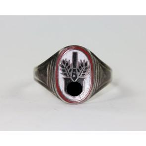 """Reichsarbeitsdienst (RAD), Ring, Silber 835, """"FP"""""""