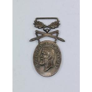 Rumänien, Medaille für Mannhaftigkeit und Treue in Silber