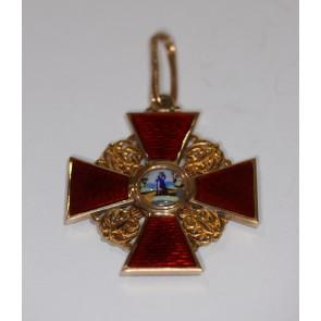 Russland, St. Anna Orden, Kreuz 2.Klasse (Gold)